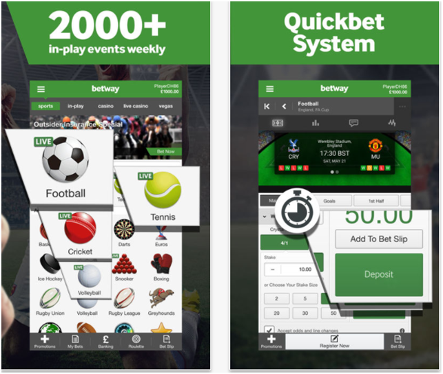 Bet with Betway App