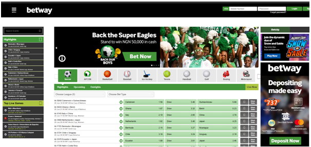 Betway Nigeria Sports betting with real Naira