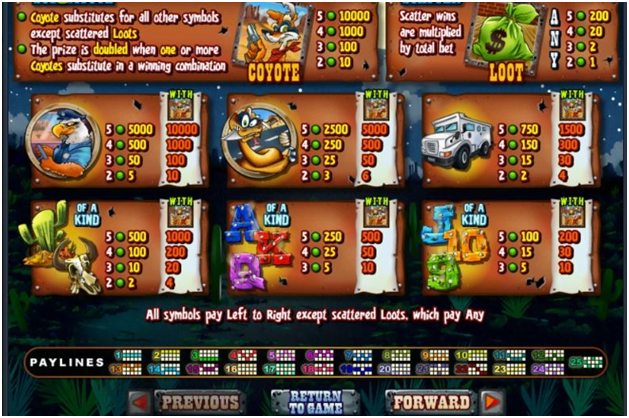 Free spins in Coyote Cash slots