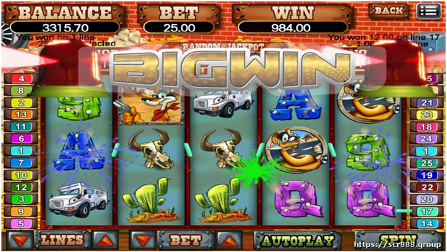 Jackpot to win in Coyote Cash