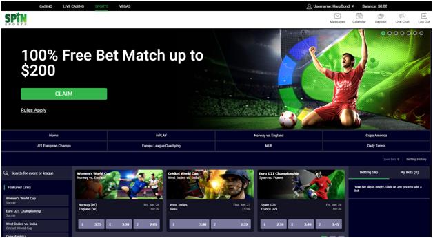 Spin Palace Casino Sports Betting