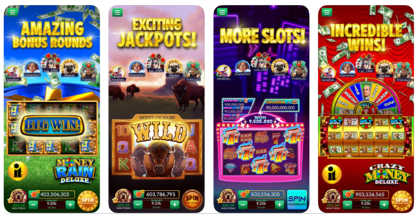 Features of Big Fish Casino games