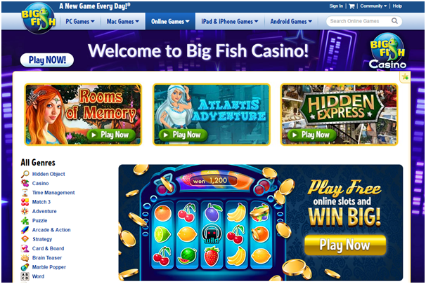 Big Fish Casino slot machines to play