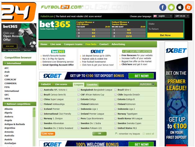 Futbol 24 prediction site