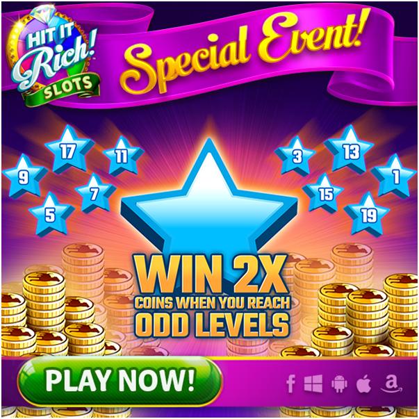 Hit it rich slots game bonuses