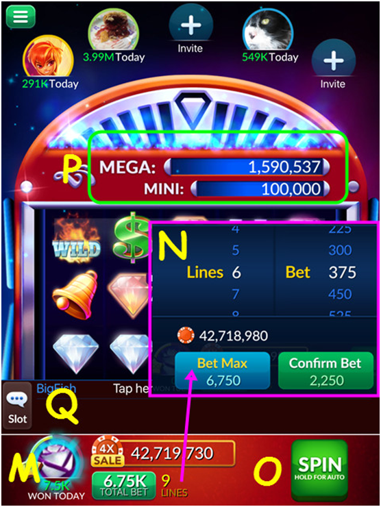 How to play slots at Big Fish Casino?