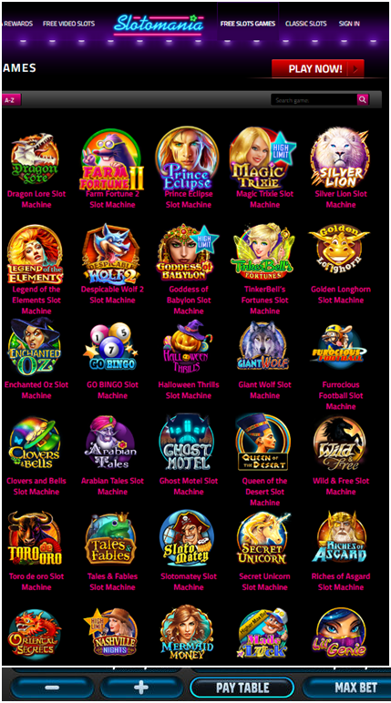 Slotomania casino games