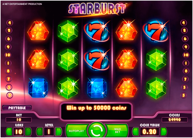 Starburst slot game betting