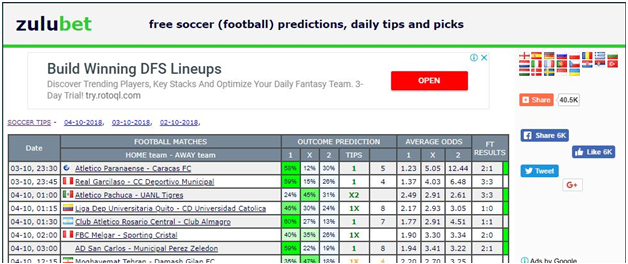 The Best Football Prediction Site in the World for Nigerian punters