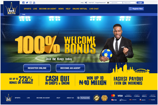 Betking Nigerian sports bookie