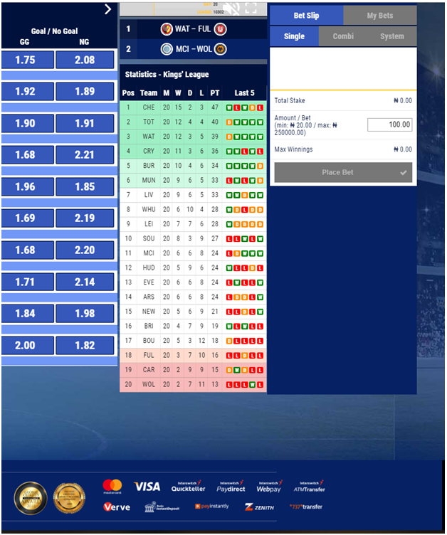 Deposits and Withdrawals at Betking