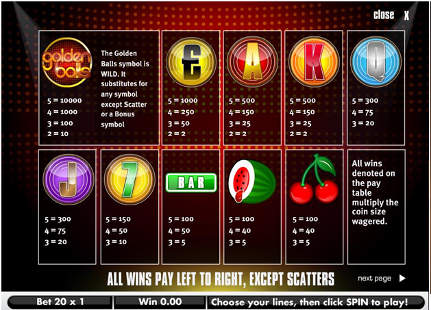 How to win Golden Balls slot game
