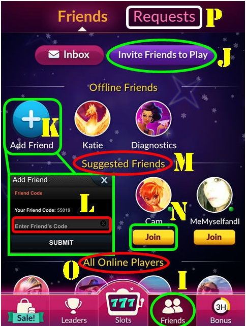 Jackpot Magic Slots- Invite friends