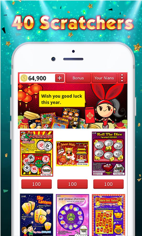 40 Scratchers free app