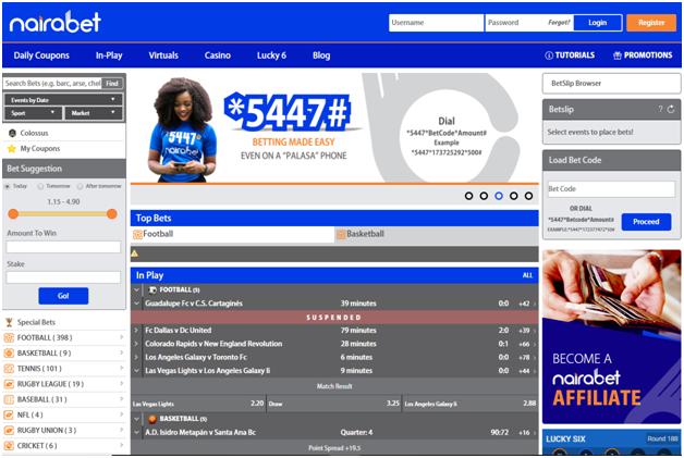 Nairabet Sports betting Nigeria