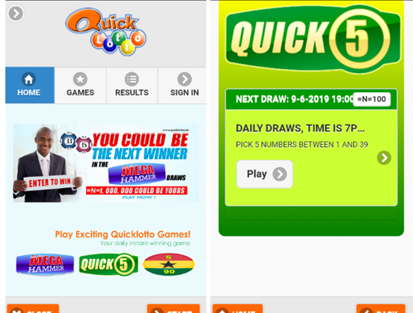 Quick Lotto to play scratchies and draw games with Naira