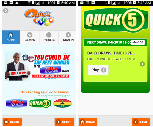 Download Quicklotto app nigeria