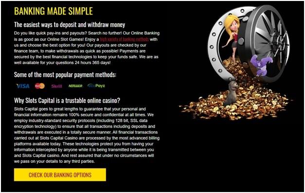 Slots capital deposit in rand