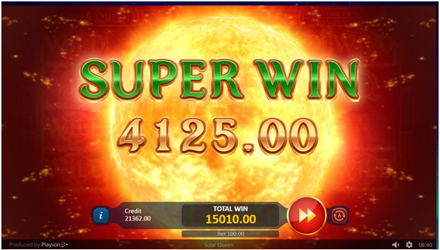 Solar Queen slot super wins
