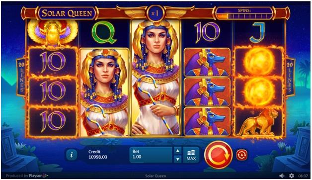 Solar Queen slot wild symbol