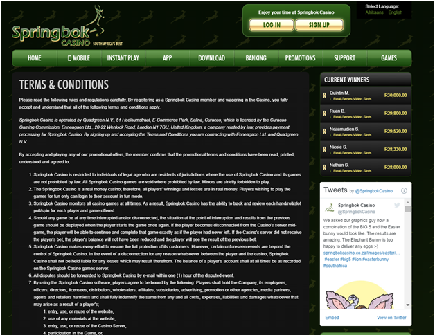 Understanding Terms and Conditions at online casinos